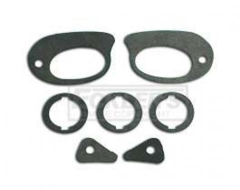 Chevy Door Handle, Door Lock & Trunk Lock Gaskets, 1955-1957