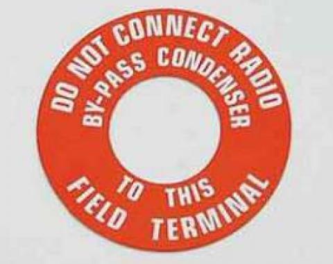 Chevy Generator Warning Tag, 1955-1957
