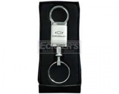 Chevy Key Ring, Satin/Chrome Chevrolet Bowtie