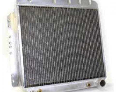 Chevy Aluminum Radiator, Automatic Transmission, Top Center Outlet, Griffin, 1949-1954
