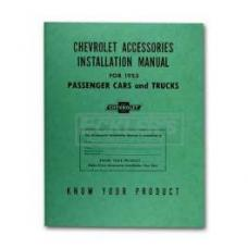 Early Chevy Accessories Installation Manual, 1953