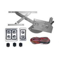 Chevy Power Window Kit, 2 Or 4-Door, Front Door Only, With Lighted Billet Switches, 1953-1954