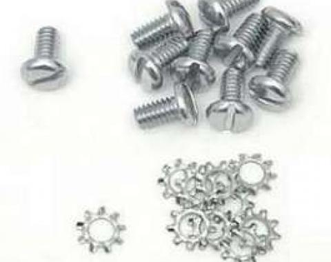 Chevy Timing Chain Cover Bolts, With Lock Washers, 1949-1954