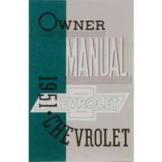 Chevy Owner's Manual, Passenger Car, 1951