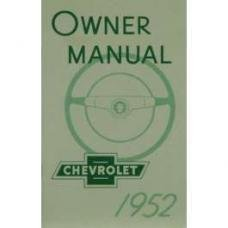 Chevy Owner's Manual, Passenger Car, 1952