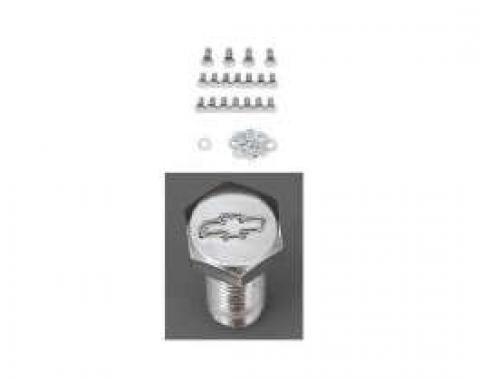 Chevy Chrome Oil Pan Bolt Set For Small Block, 1949-1954