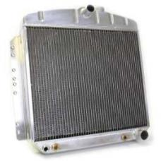 Chevy Aluminum Radiator, Automatic Transmission, Top Center Outlet, Griffin Pro Series, 1949-1954