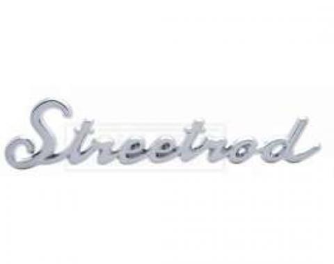 Early Chevy Streetrod Script Emblem, Chrome, 1949-1954