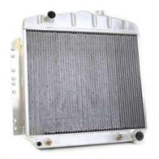 Chevy Aluminum Radiator, Manual Transmission, Top Left Outlet, Griffin, 1949-1954