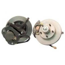 Chevy Power Front Disc Brake Kit, At The Wheel, With Ford Bolt Pattern & 2 Dropped Spindles, For Mustang II, 1949-1954
