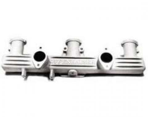 Chevy Offenhauser Intake Manifold, Aluminum, Dual Carb, 6-Cylinder, 235/261ci, 1949-1954
