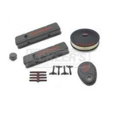 Early Chevy Engine Dress Up Kit, Black Crinkle Finish, Small Block, 1949-1954