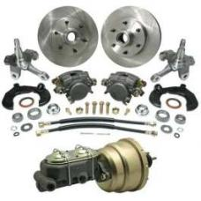 Chevy Power Front Disc Brake Kit, With Chevy Bolt Pattern, For Mustang II, 1949-1954