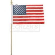 Chevy Chrome Flag Holder, Replacement American Flag, 1949-1954
