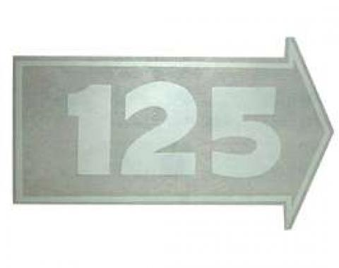Chevy Valve Cover Decal, Automatic Transmission, 125 HP, 1953-1954