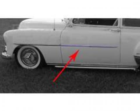 Chevy Door Molding, Stainless Steel, Left Or Right, 1951-1952