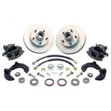 Chevy Power Front Disc Brake Kit, At The Wheel, With Ford Bolt Pattern, Without Spindles, For Mustang II, 1949-1954