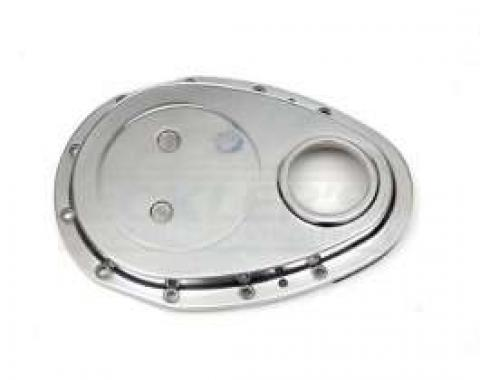 Early Chevy Timing Chain Cover, Small Block, Polished Aluminum, 1949-1954