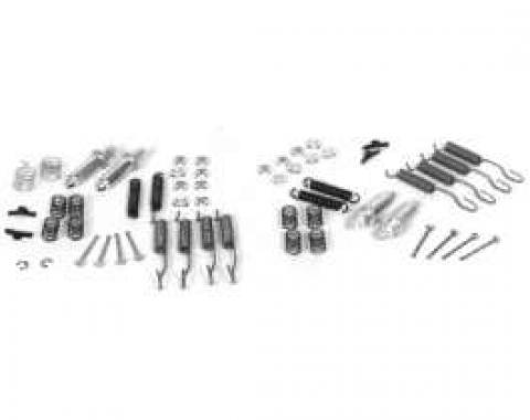 Chevy Brake Hardware Kit, Front And Rear, 1951-1954