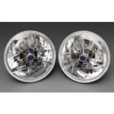 Chevy Headlights, Tri-Bar H-4 Halogen, 12-Volt, Blue Dot, 1949-1954