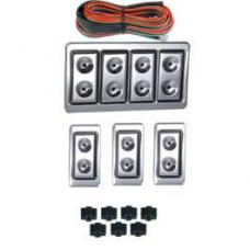 Chevy Power Window Switches, With Wiring, 2 Or 4-Door, 4-Windows, Lighted Billet, 1949-1954