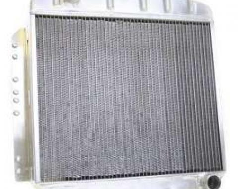 Chevy Aluminum Radiator, Manual Transmission, Top Left Outlet, Griffin Pro Series, 1949-1954