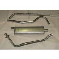 Chevy Exhaust System, Stainless Steel, Turbo, 1949-1954