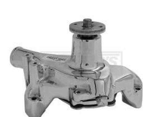 Early Chevy Chrome Water Pump, Small Block, Long Style, 1949-1954