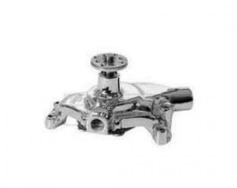 Early Chevy Chrome Water Pump, Small Block, Short Style, 1949-1954