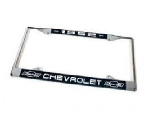 Chevy License Plate Frame, With Chevy Logo, 1952