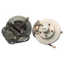 Chevy Power Front Disc Brake Kit, At The Wheel, With Ford Bolt Pattern, For Mustang II, 1949-1954