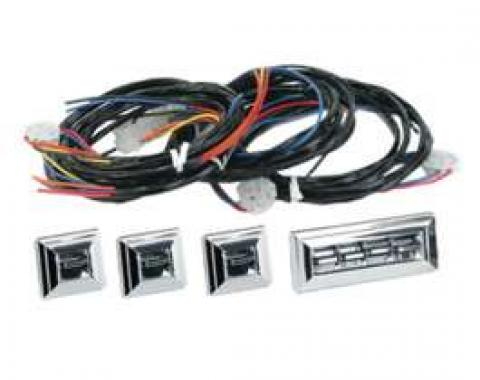 Chevy Power Window Switches, With Wiring, 2 Or 4-Door, 4-Windows, 1949-1954