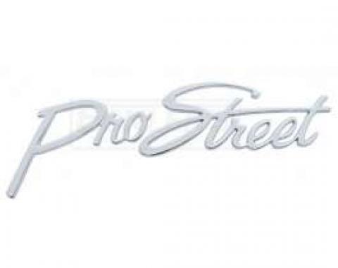 Early Chevy Pro Street Script Emblem, Chrome, 1949-1954
