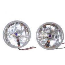 Chevy Headlights, Blue Dot Tri-Bar H-4 Halogen With Turn Signals, 1949-1954