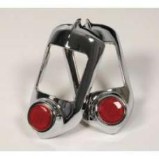 Chevy Taillight Bezels, With Reflectors, 1951-1952