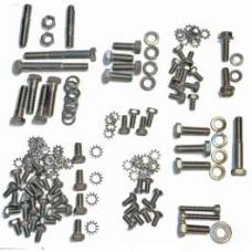 Chevy Engine Bolt Kit, Stainless Steel, 235ci, Use With Original Valve Cover, 1953-1954