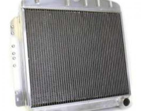 Chevy Aluminum Radiator, Manual Transmission, Top Center Outlet, Griffin, 1949-1954