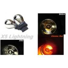 Light Bulbs, 3156, Chrome X5 Lightning Red Silver Stealth