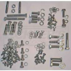 Chevy Engine Bolt Kit, Stainless Steel, 235ci 6-Cylinder, Use With Original Style Valve Cover, 1949-1954