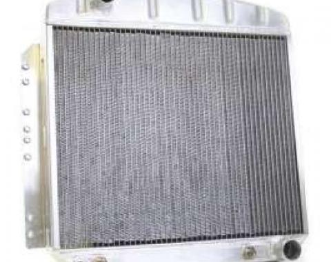 Chevy Aluminum Radiator, Automatic Transmission, Top Left Outlet, Griffin Pro Series, 1949-1954