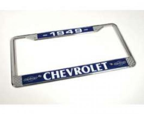 Chevy License Plate Frame, With Chevy Logo, 1949