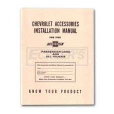 Early Chevy Accessories Installation Manual, 1950