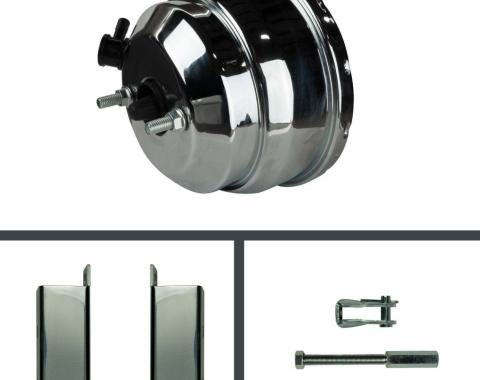 Right Stuff 8 Dual Booster w/ Rod & Bracket - Chrome RPB8231C