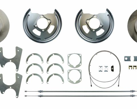 Full Size Chevy Rear Disc Brake Kit, For Cars With 10 Or 12 Bolt Rear Ends, 1965-1972