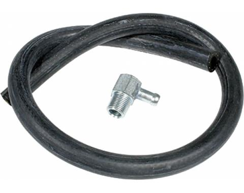 Full Size Chevy Vacuum Hose Kit, Brake Booster, With 90? Fitting, 1958-1972