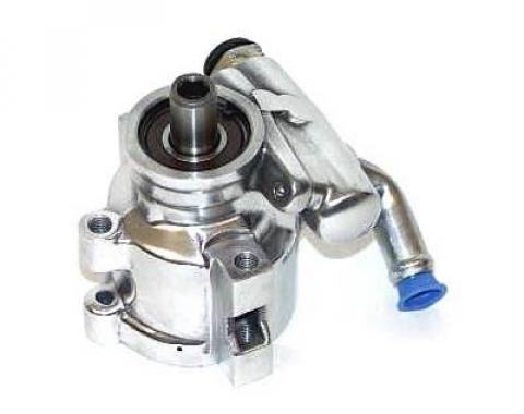 Full Size Chevy Power Steering Pump, Polished Aluminum, 1958-1972