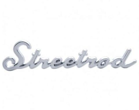 "United Pacific Chrome ""Streetrod"" Script Emblem With Stud A6202"