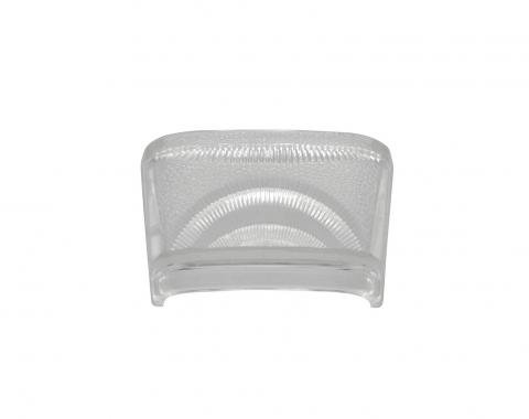 United Pacific Tail Light License Lens, Clear For 1940-53 Chevy & GMC Truck C7021