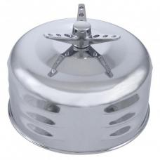 "United Pacific 2-5/16"" Single Barrel Mushroom Style Louvered Air Cleaner With Wing Nut A6289"