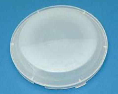 Full Size Chevy Dome Light Lens, White Replacement 1958-1962